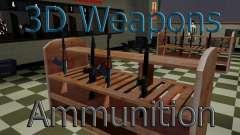 Modelos 3D de armas en Ammu-nation para GTA San Andreas