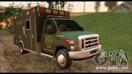 Ford E450 Ambulance SANG Tactical Rescue para GTA San Andreas