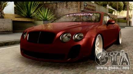 Bentley Continental VIP Stance Style para GTA San Andreas