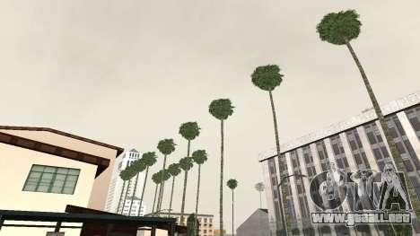 Las carreteras y de la vegetación de Los Santos para GTA San Andreas segunda pantalla