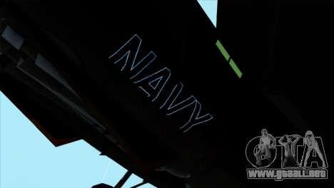 F-14 Black Storm para GTA San Andreas vista posterior izquierda