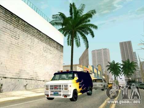 GMC The A-Team Van para GTA San Andreas vista hacia atrás