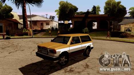 DLC garaje de GTA online de la marca nueva de tr para GTA San Andreas