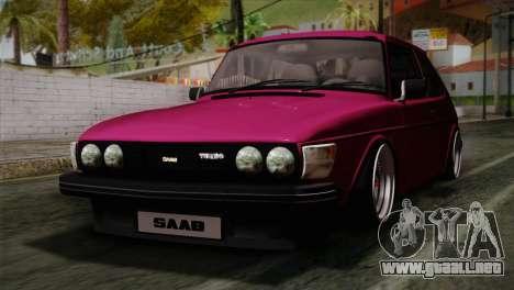 Saab 99 Turbo Stance para GTA San Andreas