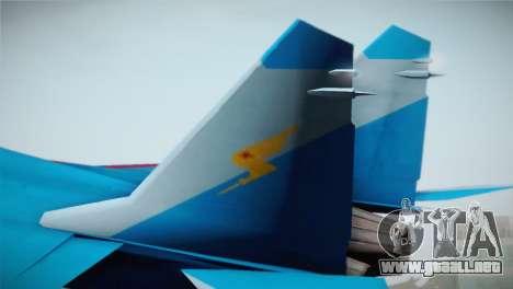 MIG-29 Russian Falcon para GTA San Andreas vista posterior izquierda