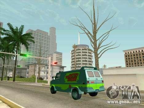 GMC The A-Team Van para vista inferior GTA San Andreas