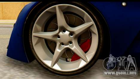 Marussia B2 para GTA San Andreas vista posterior izquierda
