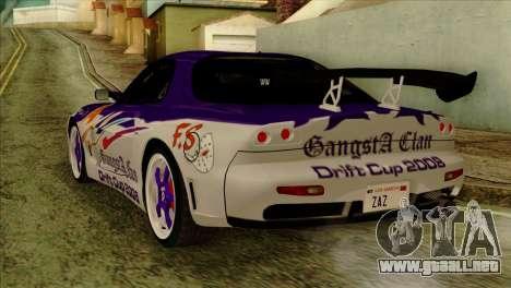 Mazda RX-7 Gangsta Club para GTA San Andreas left