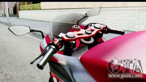 Kawasaki Ninja 250 Fi para GTA San Andreas vista posterior izquierda