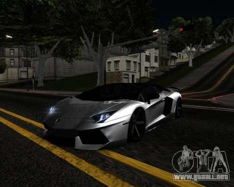 HDX ENB Series para GTA San Andreas sucesivamente de pantalla