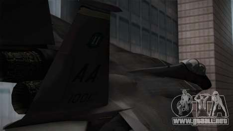 F-15 (Battlefield 2) para GTA San Andreas vista posterior izquierda
