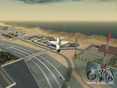 MiG 21 para GTA San Andreas vista posterior izquierda