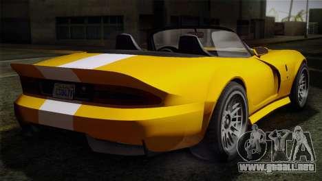 GTA 5 Invetero Coquette SA Mobile para GTA San Andreas vista posterior izquierda