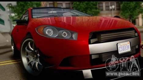 GTA 5 Maibatsu Penumbra IVF para GTA San Andreas vista hacia atrás