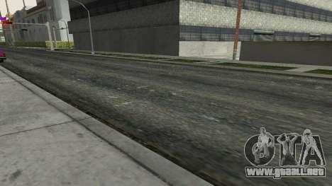 Las carreteras y de la vegetación de Los Santos para GTA San Andreas tercera pantalla