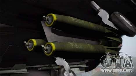 F-15 (Battlefield 2) para GTA San Andreas vista hacia atrás