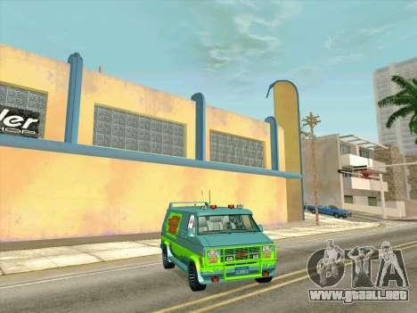 GMC The A-Team Van para la visión correcta GTA San Andreas