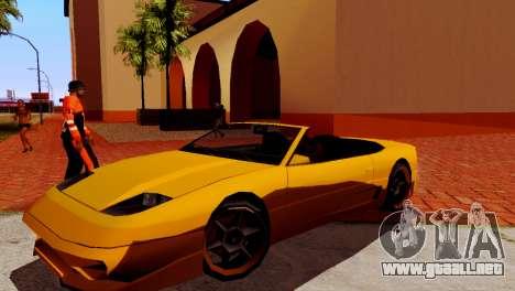 DLC garaje de GTA online de la marca nueva de tr para GTA San Andreas sucesivamente de pantalla