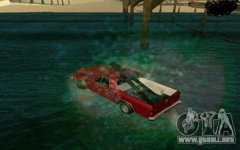Cars Water para GTA San Andreas segunda pantalla