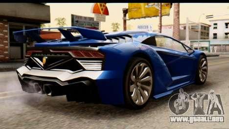 GTA 5 Pegassi Zentorno v2 para GTA San Andreas left