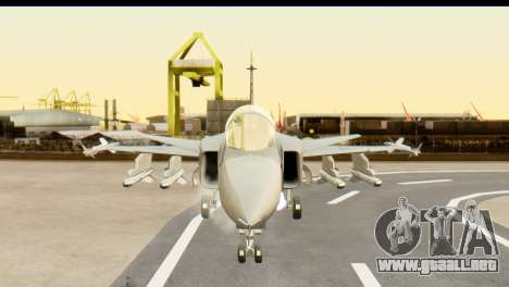 Saab Gripen NG para GTA San Andreas vista hacia atrás