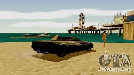 DLC garaje de GTA online de la marca nueva de tr para GTA San Andreas quinta pantalla