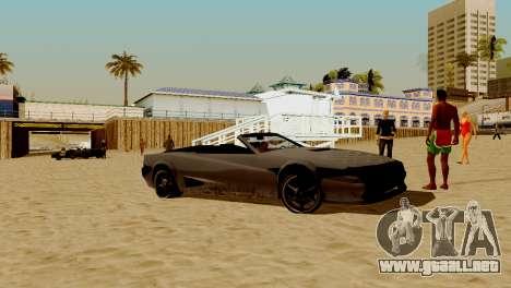 DLC garaje de GTA online de la marca nueva de tr para GTA San Andreas octavo de pantalla