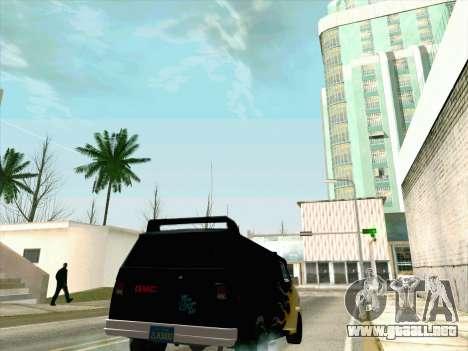 GMC The A-Team Van para visión interna GTA San Andreas