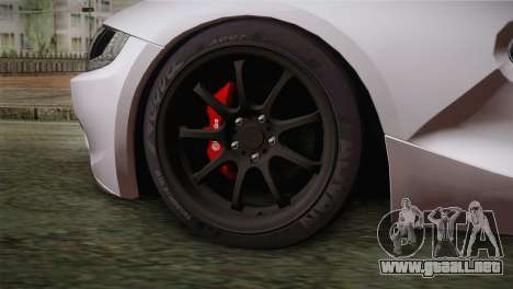 BMW Z4 V10 IVF para GTA San Andreas vista posterior izquierda