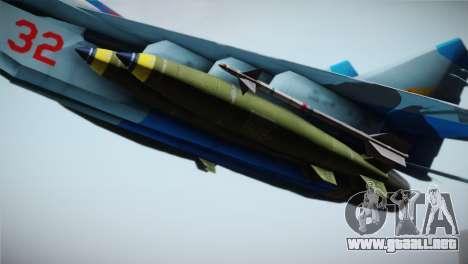 MIG-29 Russian Falcon para la visión correcta GTA San Andreas
