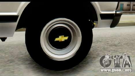 Chevrolet C10 Patrulla para GTA San Andreas vista posterior izquierda