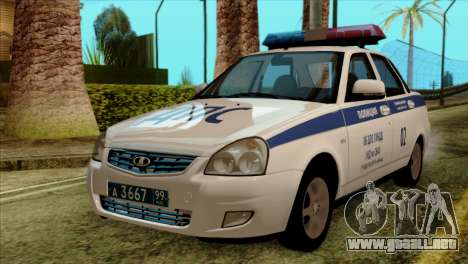 Lada Priora 2170 Policía DPS Moscú para GTA San Andreas