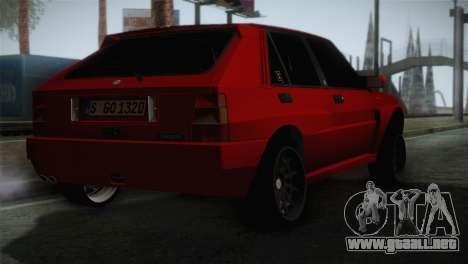Lancia Delta EVO para GTA San Andreas left