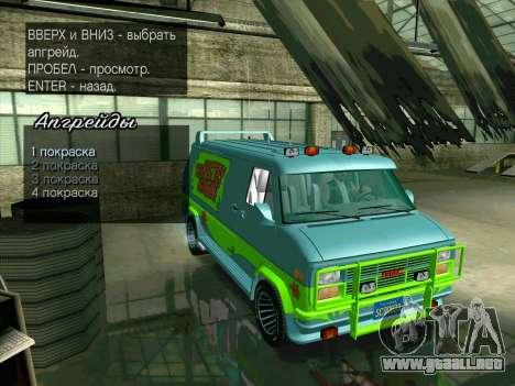 GMC The A-Team Van para la vista superior GTA San Andreas
