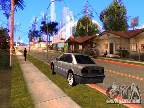 BMW 740i BL para GTA San Andreas vista posterior izquierda