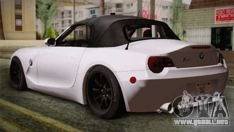BMW Z4 V10 IVF para GTA San Andreas left