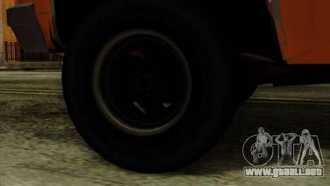 Chevrolet Custom Deluxe para GTA San Andreas vista posterior izquierda