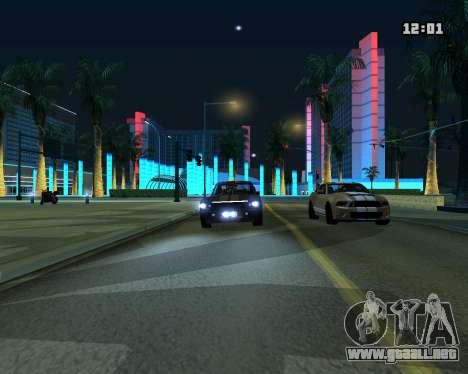 Shelby GT500 Eleanor para GTA San Andreas vista hacia atrás