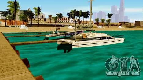 DLC garaje de GTA online de la marca nueva de tr para GTA San Andreas segunda pantalla