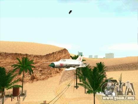 MiG 21 para GTA San Andreas left