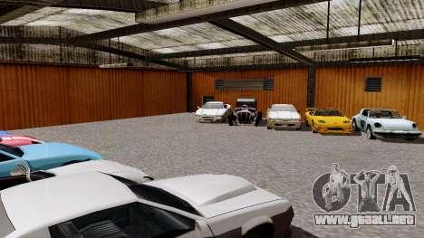 DLC garaje de GTA online de la marca nueva de tr para GTA San Andreas tercera pantalla