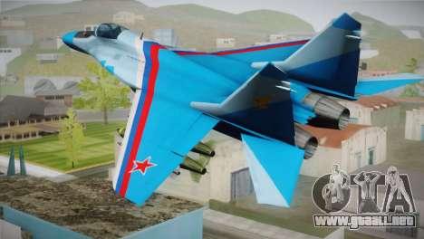 MIG-29 Russian Falcon para GTA San Andreas left