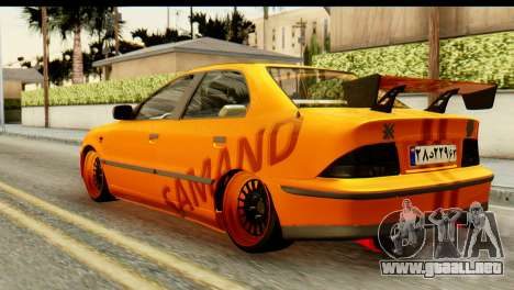 Ikco Samand Tuning para GTA San Andreas left