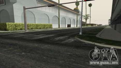 Las carreteras y de la vegetación de Los Santos para GTA San Andreas sucesivamente de pantalla