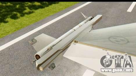 Saab Gripen NG para la visión correcta GTA San Andreas