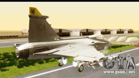 Saab Gripen NG para GTA San Andreas left