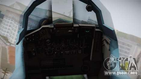 MIG-29 Russian Falcon para GTA San Andreas vista hacia atrás