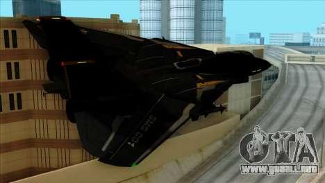 F-14 Black Storm para GTA San Andreas left