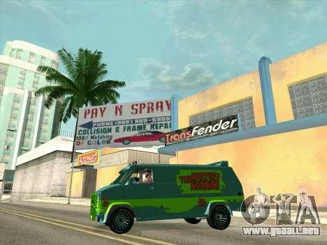 GMC The A-Team Van para las ruedas de GTA San Andreas
