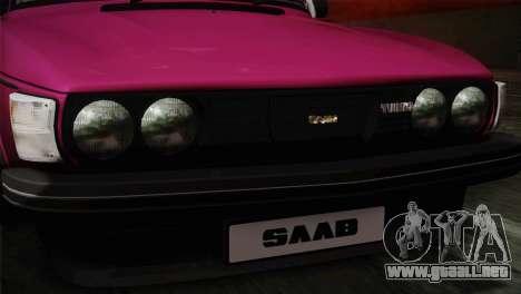 Saab 99 Turbo Stance para GTA San Andreas vista hacia atrás
